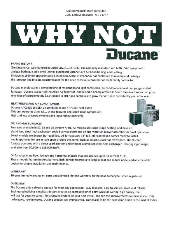 Why Not Ducane!